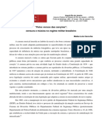 Pelos Versos Das Canções_censura e Musica No Regime Militar Brasileiro
