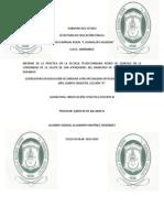 Informe de Practica de La Semanas Del 25 de Nov Al 6 de Dic. Del 2013