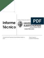 Informe Tecnico de Estadistica Carolina Marambio - Gissel Aguayo