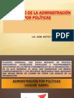 El Proceso de La Administración Por Políticas