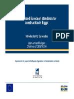 20110126 Eurocodes Egypt Conf Calgaro Intro to Eurocodes