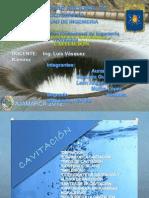 Cavitacion (Hidraulica i)
