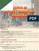 5.- EL MOVIMIENTO OBRERO