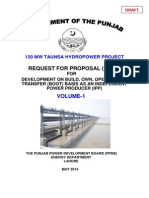 Request for Proposal (RFP) Taunsa 120 MW Project