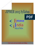 JIPMER Syllabus by Entranceindia