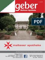 Ratgeber aus Ihrer Malteser-Apotheke – Juli 2014