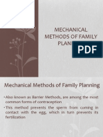 Mechanical Methods of Family Planning