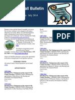 July 2014 Legislation Edition
