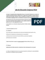 Segunda Jornada de Discusión Congreso FEUV
