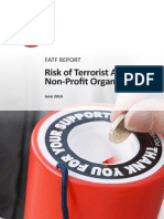Risk of Terrorist Abuse in Non Profit Organisations
