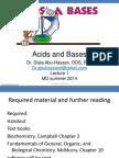lecture 1 - acid base