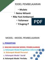 Model –Model Pembelajaran Presentasi