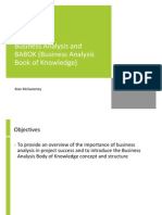 Business Analysis and the IIBA Business Analysis Body of Knowledge (BABOK)