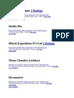 List of Arch & Interior