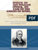 A SPEECH OF   ON THE CASE OF THE AMEEES OF SINDE, At a Special Court, HELD AT THE INDIA HOUSE, ON FRIDAY, 26th JANUARY, 1844.