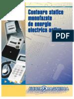 Contoare Statice Monofazate de Energie Electrica Activa