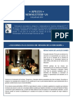 APECES - Newsletter No 25