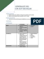 Cuidados generales del paciente con ACV secuelar