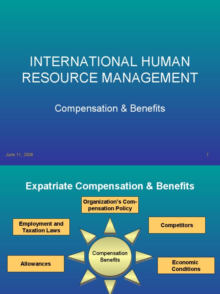 international compensation and benefits