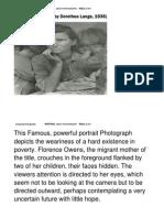migrant mother analysis activity