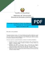 Briefings do Conselho de Ministros