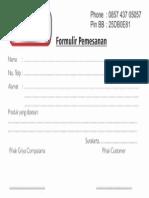 Formulir Pemesanan Zenfone Untuk Di Webedit