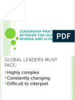 LEADERSHIP PRACTICES BETWEEN THE USA, NIGERIA AND