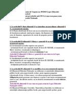 Comparatie Intre OUG 49/2014 si Prevederile Legii Educatiei
