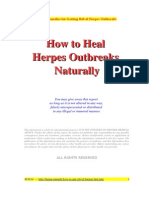 How to Heal  Herpes Outbreaks  Naturally