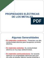 Propiedades Eléctricas de Los Metales