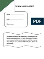 Proficiency Admission Test