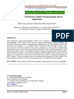 Review of Ultra Performance Liquid Chromatography and Its Aplications
