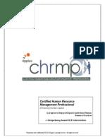 C.H.R.M.P Certification Program Plan