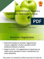 Nutrición en Alimentación Vegana y Vegetariana