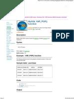 MySQL Var_pop() - w3resource