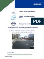 London Asphalt Specification Revision
