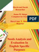 ESP REPORT