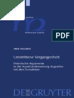 Arne Hogrefe Umstrittene Vergangenheit Historische Argumente in Der Auseinandersetzung Augustins Mit Den Donatisten Millennium-Studien Zu Kultur Und Geschichte
