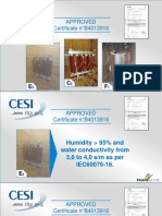 Certificato CESI Per Offerte