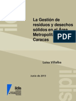 Gestión de RyDS en El Área Metropilitana de Caracas