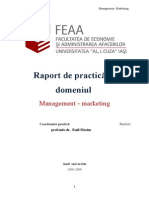 Practica de Specialitate in Management-Marketing - SC Remar SA