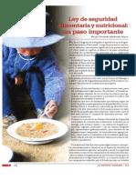 Ley de seguridad alimentaria y nutricional
