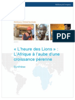 MGI Lions on the Move French Translation Executive Summary