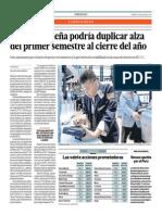 BVL Podría Duplicar Alza Del Primer Semestre Al Cierre Del Año_El Comercio 1-07-2014