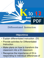 Differentiated Instructions TLE