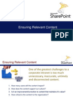 SharePoint Ensuring Relevant Content