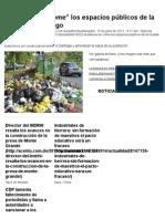"""La Basura Se """"Come"""" Los Espacios Públicos de La Ciudad de Santiago - Acento"""