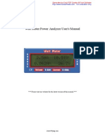 Watt Meter Power Analyzer User
