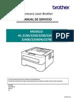 Brother HL-2130 y Otros Modelos Manual de Servicio