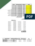 Costo de Mano de Obra Practica Con Clasificacion de Costos 10.05.2014